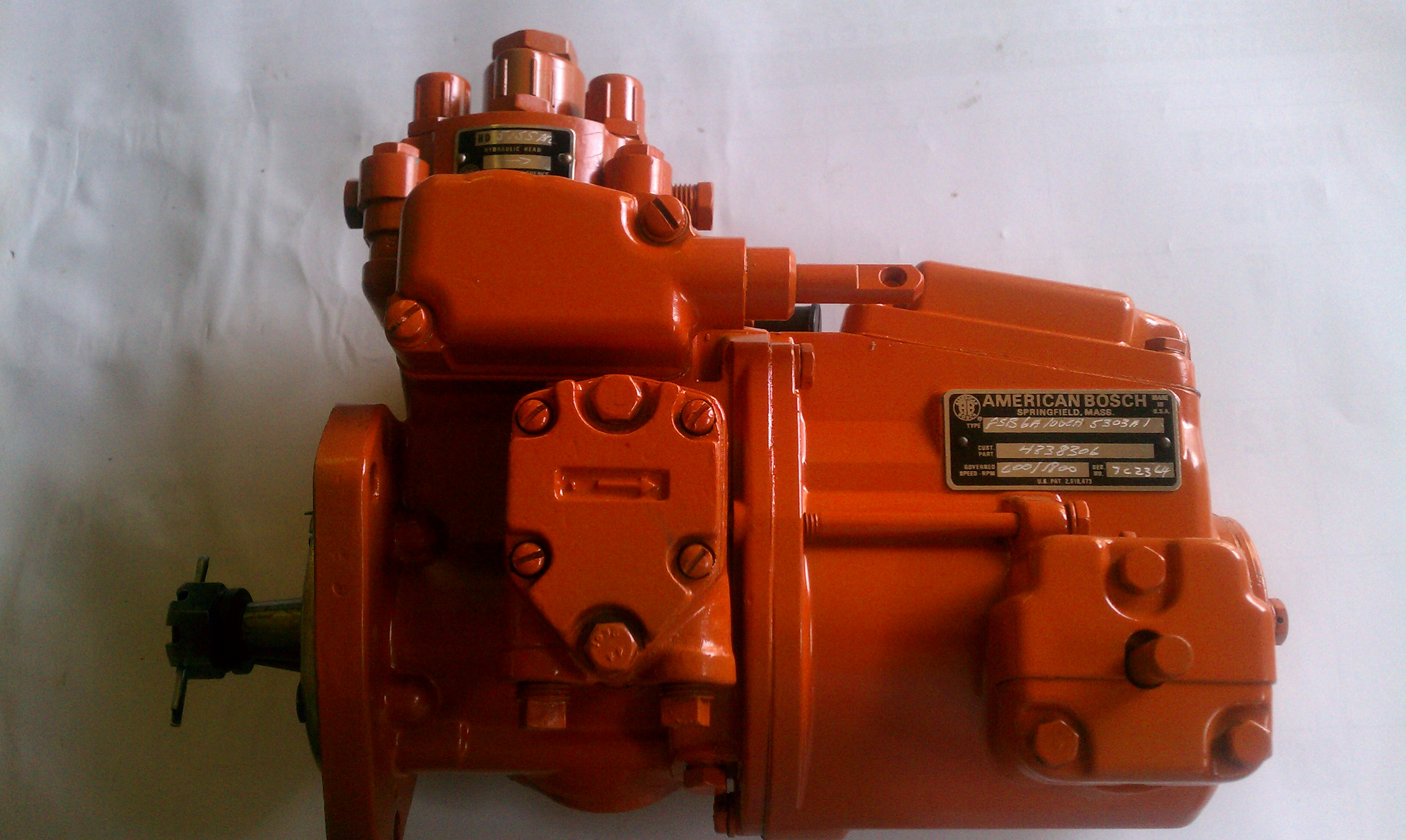 American Bosch Psb Pump on Allis Chalmers Generator Engines